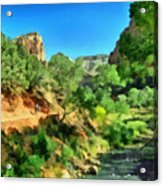 Zion In The Morning Acrylic Print