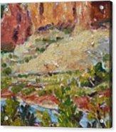 Zion Mountain Cliff Acrylic Print
