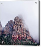 Zion Red Rock And Clouds Acrylic Print