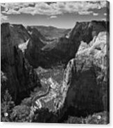 Zion Valley From Observation Point Acrylic Print