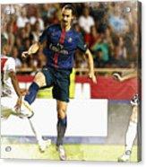 Zlatan Ibrahimovic In Action  Acrylic Print