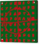 Zodiac Killer Code And Sign 20130213 Acrylic Print