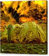 Zoe And The Ancient Remnant Eucalyptus Viminalis Acrylic Print