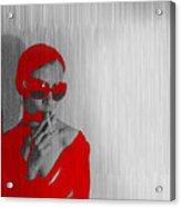 Zoe In Red Acrylic Print by Naxart Studio