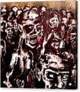 Zombie Army Acrylic Print