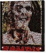 Zombie Bottle Cap Mosaic Acrylic Print by Paul Van Scott