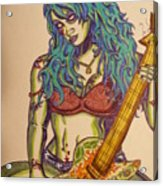 Zombie Guitar Acrylic Print