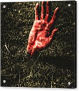 Zombie Rising From A Shallow Grave Acrylic Print