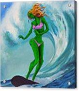 Zombie Surf Goddess Acrylic Print