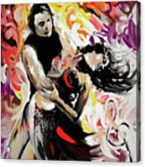 Zouk Lambada Dance Acrylic Print