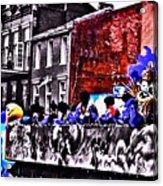 Zulu Krewe In Red And Blue Acrylic Print