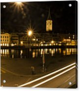 Zurich At Night Acrylic Print