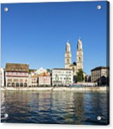 Zurich Cathedral Acrylic Print
