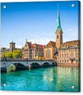 Zurich City Center Acrylic Print