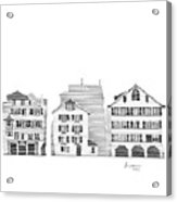 Zurich City Scene Acrylic Print