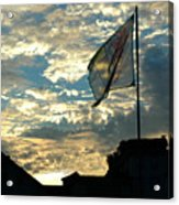 Zurich Griffin Flag At Sunset Acrylic Print