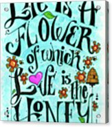 030_flowery_life Acrylic Print