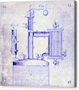 1878 Beer Boiler Patent Blueprint Acrylic Print