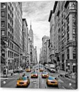 5th Avenue Nyc Traffic Acrylic Print