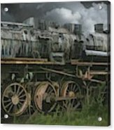 Abandoned Steam Locomotive  Acrylic Print