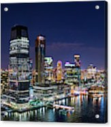 Aerial Panorama Of Jersey City Acrylic Print