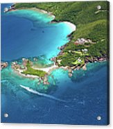 Aerial Shot Of West End, St. Thomas, Us Acrylic Print