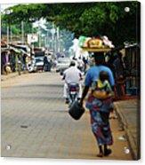African Street Scene Acrylic Print