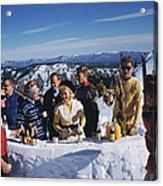 Apres Ski Acrylic Print
