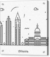 Astana Cityscape Travel Poster Acrylic Print
