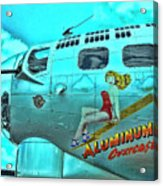 B-17 Aluminum Overcast Pin-up Acrylic Print