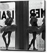 Ballerinas Standing On Window Sill In Acrylic Print