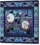 Banjos Bordered Acrylic Print