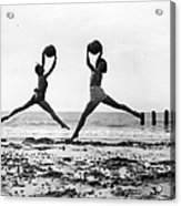 Beach Dancers Acrylic Print