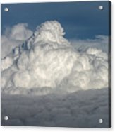 Beautiful Cloudscape High Up In The Sky. Acrylic Print