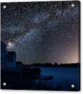 Beautiful Night Sky Astrophotography Landscape Image Of Milky Wa Acrylic Print