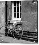 bicycle in Edinburgh close Acrylic Print