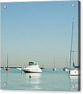 Boats On Lake Michigan Acrylic Print