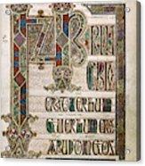 Book Of Lindisfarne Acrylic Print