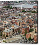 Boston Government Center, North End And Harbor Acrylic Print