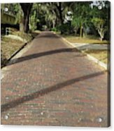 Brick Road In Palatka Florida Acrylic Print