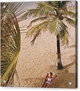 Caribe Hilton Beach Acrylic Print