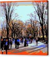 Central Park Mall Acrylic Print