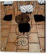 Chairs And Shadows Acrylic Print
