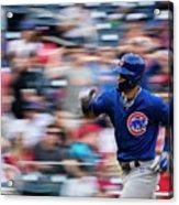 Chicago Cubs V Washington Nationals Acrylic Print