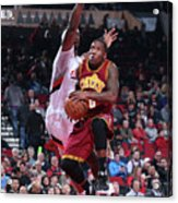Cleveland Cavaliers V Portland Trail Acrylic Print