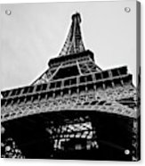 Close Up View Of The Eiffel Tower From Underneath  Acrylic Print