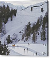 Curling At St. Moritz Acrylic Print