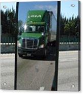 Green Freightliner Publix Acrylic Print