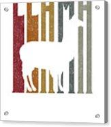 Cute Funny Llama Make Me Happy Retro Llamas Acrylic Print