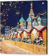 Decorations For New Year And Holidays Acrylic Print